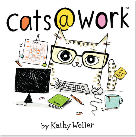cats @ work desktop book - Funky Cat Emporium