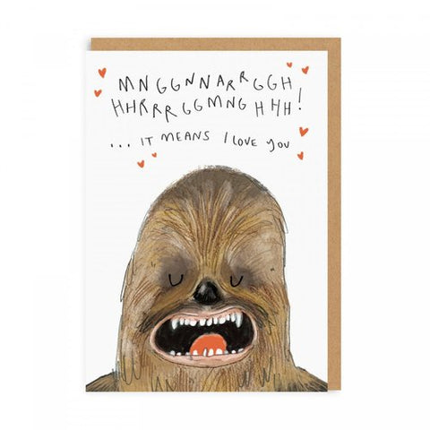 chewie love card - Funky Cat Emporium