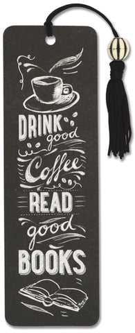 drink good coffee & read good books bookmark