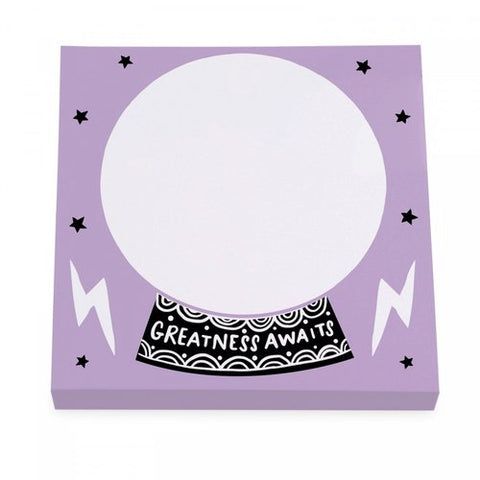 crystal ball sticky notes - Funky Cat Emporium