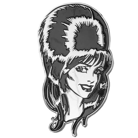 elvira mega head enamel pin - Funky Cat Emporium