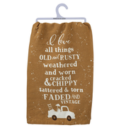 I Love All Things Faded and Vintage Tea Towel - Funky Cat Emporium