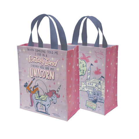 i live in a fantasy land daily tote - Funky Cat Emporium