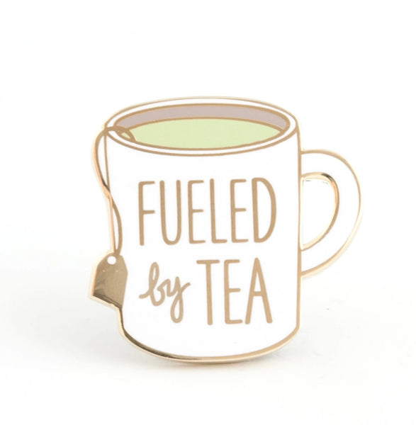 fueled by tea enamel pin - Funky Cat Emporium