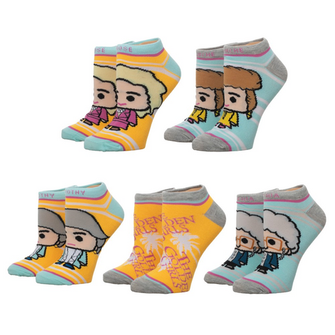 golden girls 5 pack ankle socks