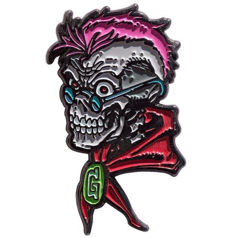 goosebumps curly the skeleton enamel pin - Funky Cat Emporium