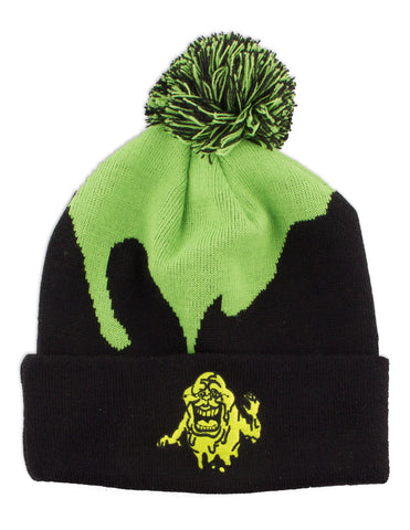 ghostbuster glow in the dark slimer pom beanie hat