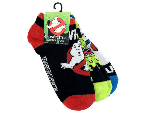 ghostbusters 3 pack ankle socks