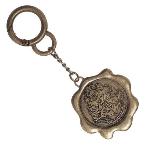 harry potter hogwarts wax seal keychain