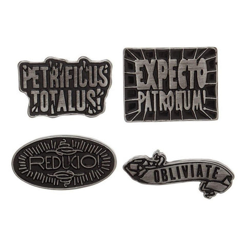 harry potter spells enamel pin set