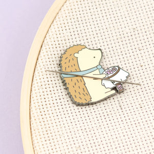 embroidery hedgehog needle minder - Funky Cat Emporium
