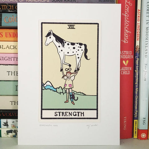 strength tarot card print - Funky Cat Emporium