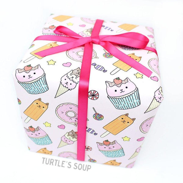sweet treats cat gift wrap - Funky Cat Emporium
