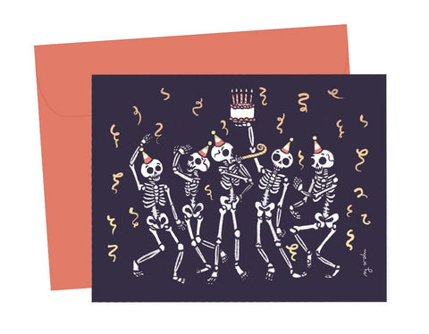 creepy good time birthday card - Funky Cat Emporium
