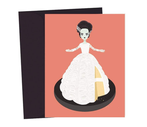 bride of frankenstein doll cake card - Funky Cat Emporium