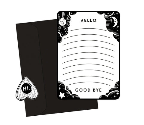 ouija spirit board notecard & sticker set - Funky Cat Emporium