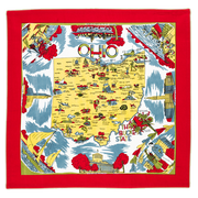 Ohio Map Tea Towel