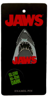 JAWS Movie Poster Glow in the Dark Enamel Pin