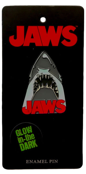 jaws movie poster glow in the dark enamel pin - Funky Cat Emporium