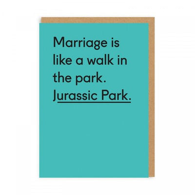 Jurassic Park Wedding Card - Funky Cat Emporium
