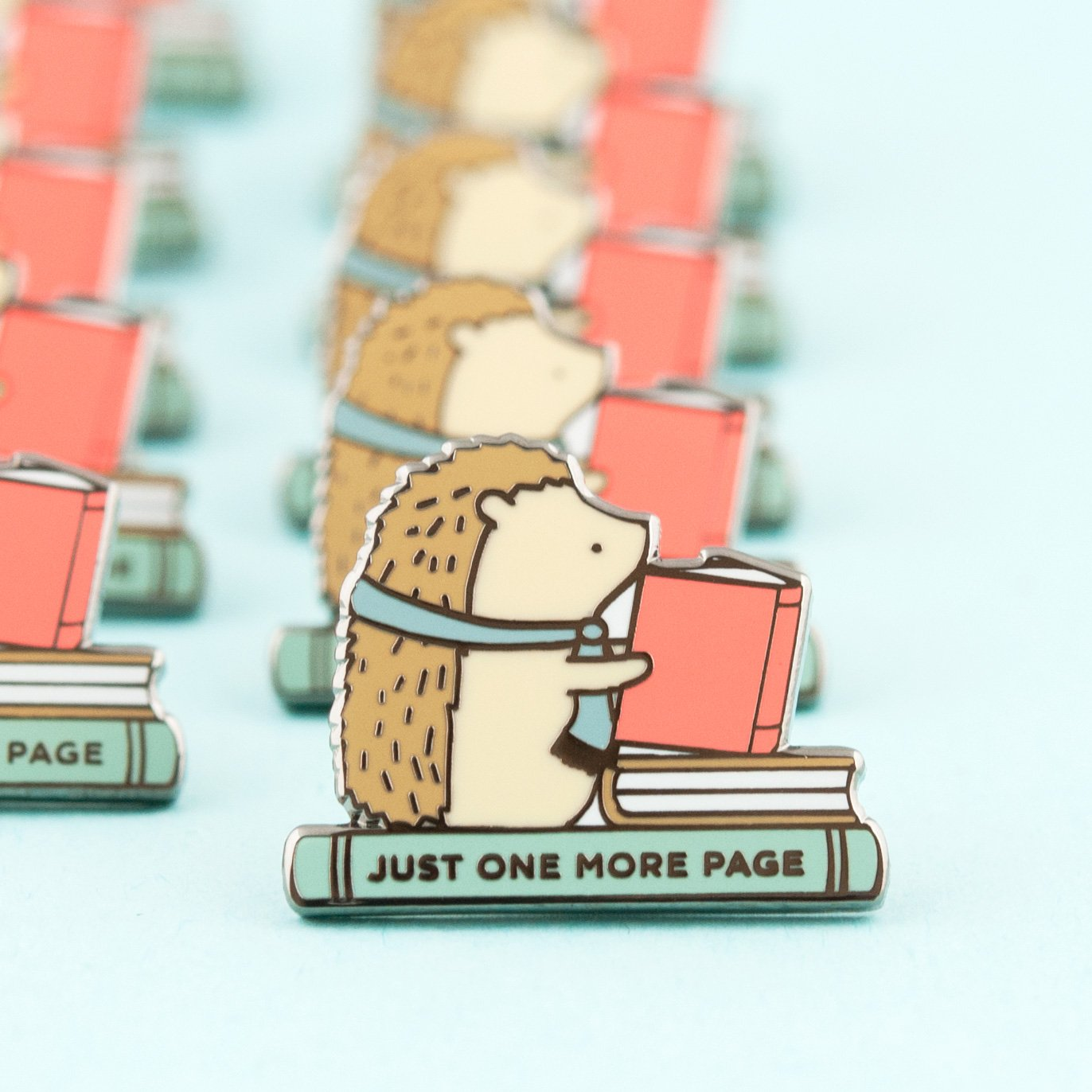 just one more page enamel pin - Funky Cat Emporium