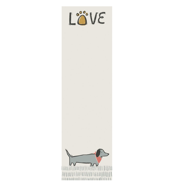 • Dog Love • Magnetic List Notepad •