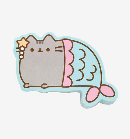 pusheen mermaid sticky notes - Funky Cat Emporium