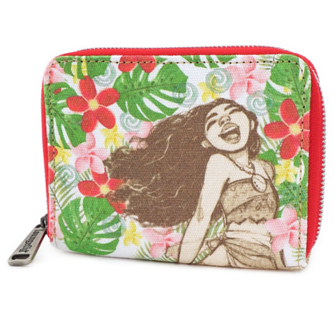 loungefly disney moana floral wallet