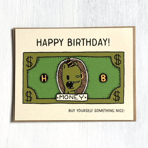 birthday money card - Funky Cat Emporium