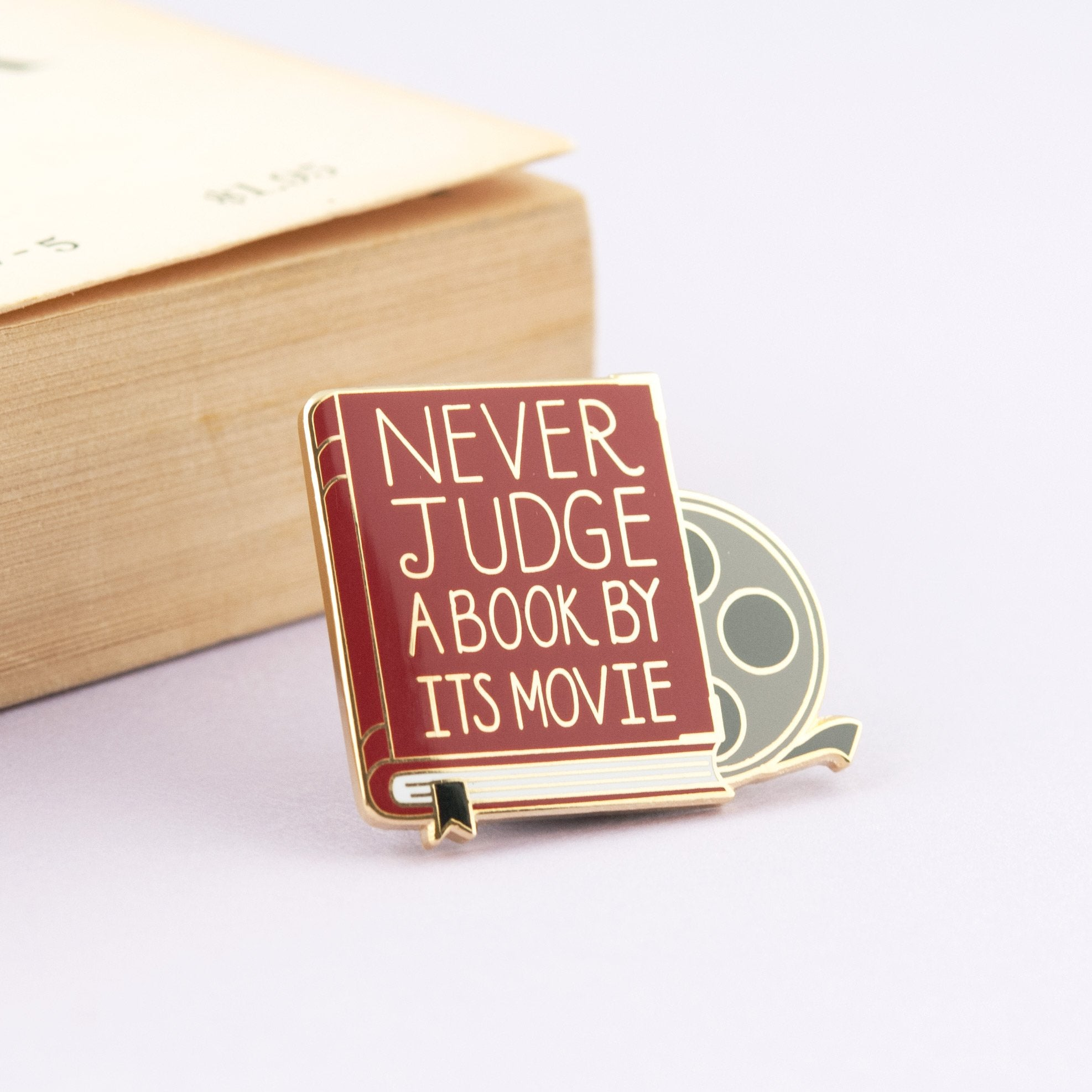 never judge a book by it's movie enamel pin - Funky Cat Emporium