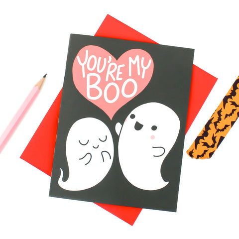 you're my boo love card