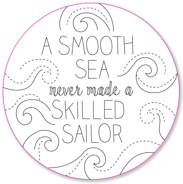 nautical embroidery pattern set