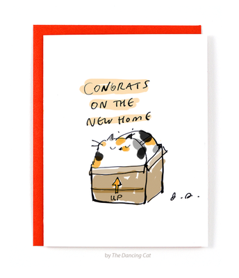 Cat Box Housewarming Card - Funky Cat Emporium