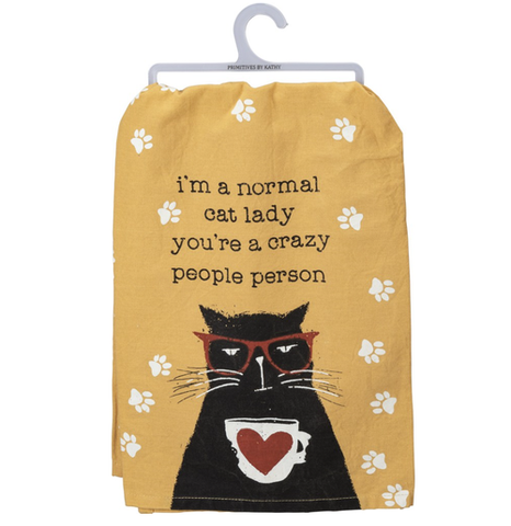 i'm a normal cat lady tea towel - Funky Cat Emporium