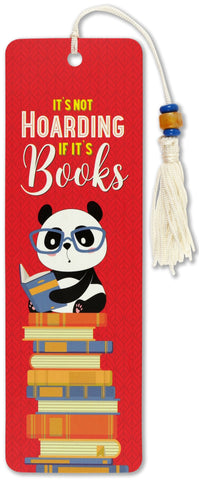 it's not hoarding if it's books beaded bookmark