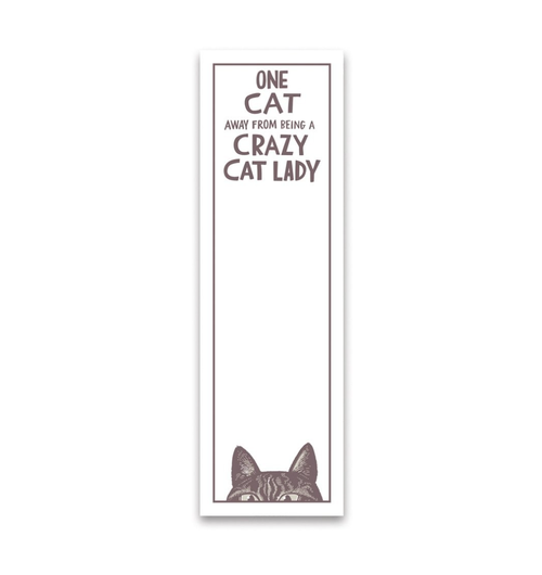 one cat away magnetic list notepad - Funky Cat Emporium