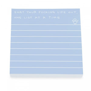 sort your life out sticky notes - Funky Cat Emporium