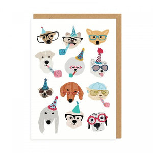 celebratory dogs birthday card - Funky Cat Emporium