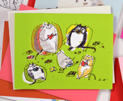 Book Club Cats • Friendship Card • Just Because Card