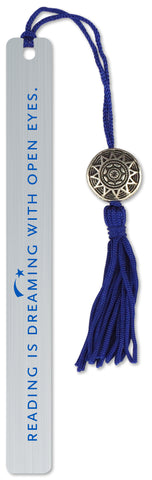 reading is dreaming beaded metal bookmark - Funky Cat Emporium