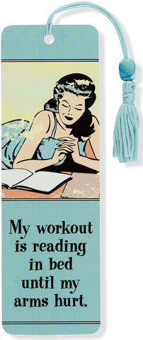 reading In bed is my workout beaded bookmark - Funky Cat Emporium