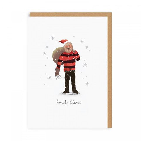 santa claws freddy christmas card - Funky Cat Emporium