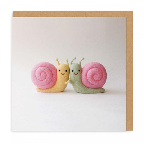 snail friends card - Funky Cat Emporium