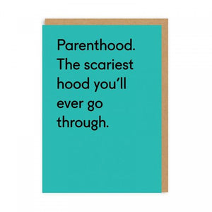 parenthood is scary new baby card - Funky Cat Emporium
