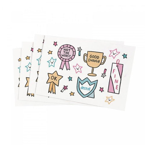 self care awards stickers - Funky Cat Emporium