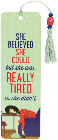 she believed she could but she was tired beaded bookmark
