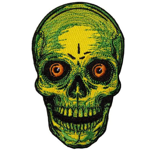 vintage halloween skull head patch - Funky Cat Emporium