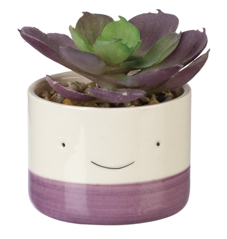 smiley kawaii desktop planter - Funky Cat Emporium
