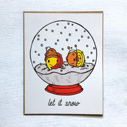Let It Snow Snails Holiday Card - Funky Cat Emporium