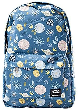 loungefly disney star wars characters and bloom backpack